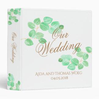 Elegant eucalyptus wedding memory binder