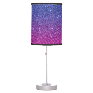 Elegant Evening Sky Ombre Glitter Table Lamp