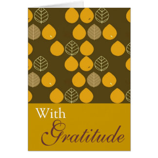 Elegant Fall Leaves Card