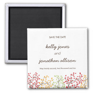 Elegant Fall Save the Date Wedding Magnet