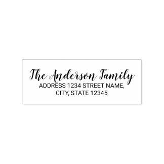 Elegant Family Name Return Address Rubber Stamp
