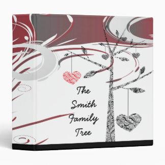 elegant family tree heart geneology vinyl binders