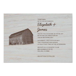 Elegant Farm Wedding Invitations