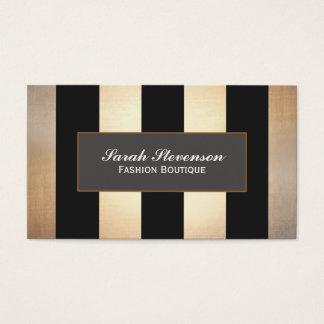 Elegant Fashion Boutique Jewelry Design Striped Business Card