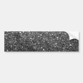 Elegant Faux Black Glitter Bumper Sticker