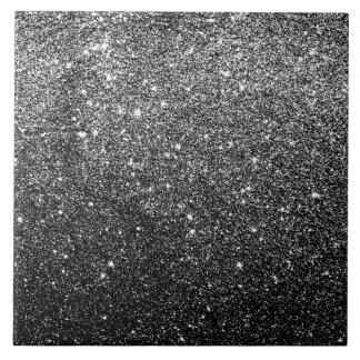 Elegant Faux Black Glitter Ceramic Tiles