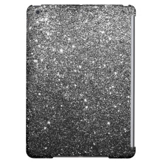 Elegant Faux Black Glitter Cover For iPad Air