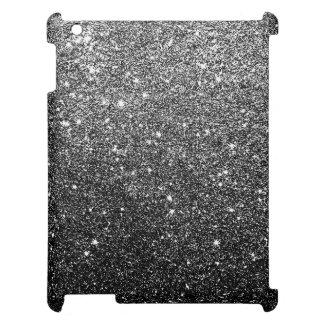 Elegant Faux Black Glitter iPad Case