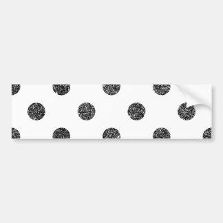 Elegant Faux Black Glitter Polka Dots Pattern Bumper Sticker