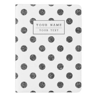 Elegant Faux Black Glitter Polka Dots Pattern Extra Large Moleskine Notebook