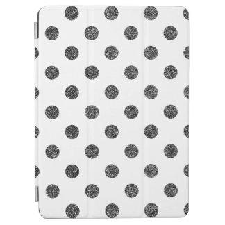 Elegant Faux Black Glitter Polka Dots Pattern iPad Air Cover