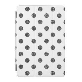 Elegant Faux Black Glitter Polka Dots Pattern iPad Mini Cover