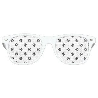 Elegant Faux Black Glitter Polka Dots Pattern Party Shades
