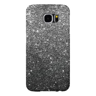 Elegant Faux Black Glitter Samsung Galaxy S6 Cases