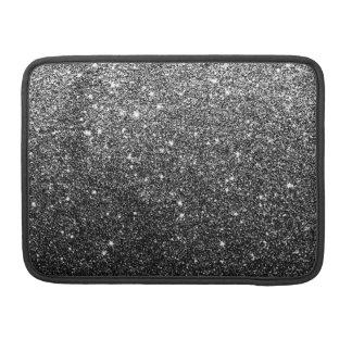 Elegant Faux Black Glitter Sleeve For MacBooks
