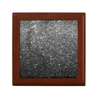 Elegant Faux Black Glitter Trinket Box
