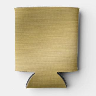 Elegant Faux Brushed Gold  Artwork Can Cooler
