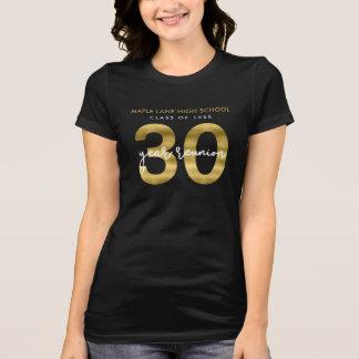 Elegant Faux Gold 30 Year School Reunion T-Shirt