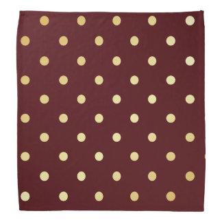 elegant faux  gold brown polka dots bandana