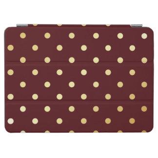 elegant faux  gold brown polka dots iPad air cover