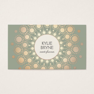 Elegant Faux Gold Circle Motif  Professional Business Card