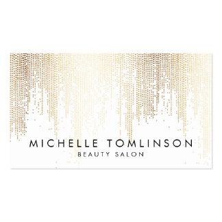 Elegant Faux Gold Confetti Dots Business Card