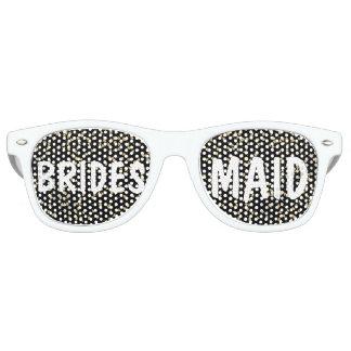 Elegant faux gold confetti Wedding Bridesmaid Retro Sunglasses