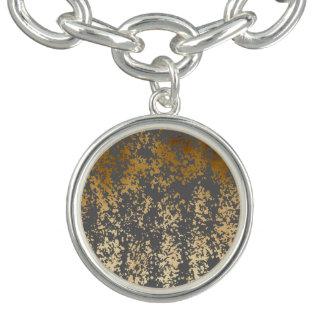 elegant faux gold foil and grey brushstrokes bracelet