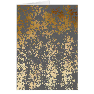 elegant faux gold foil and grey brushstrokes card