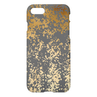 elegant faux gold foil and grey brushstrokes iPhone 7 case