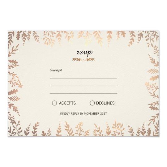 Elegant Faux Gold Foliage Card