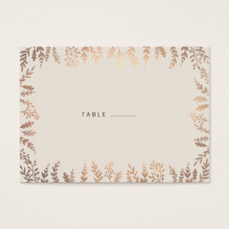 Elegant Faux Gold Foliage Escort Card