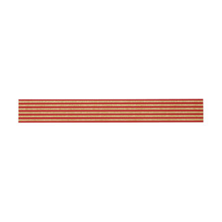 Elegant Faux Gold Glitter and Red Stripe Pattern Invitation Belly Band