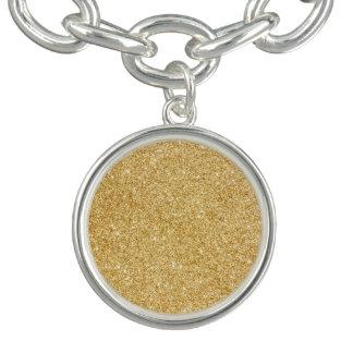 Elegant Faux Gold Glitter Bracelets