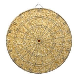 Elegant Faux Gold Glitter Dart Board