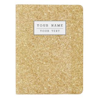 Elegant Faux Gold Glitter Extra Large Moleskine Notebook