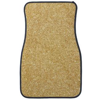 Elegant Faux Gold Glitter Floor Mat