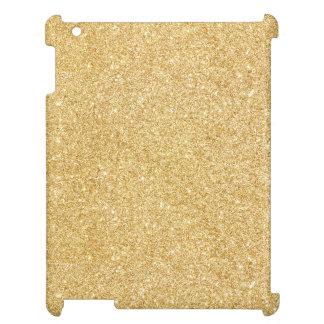 Elegant Faux Gold Glitter iPad Case