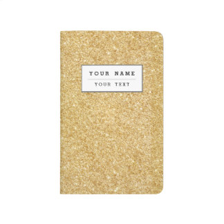Elegant Faux Gold Glitter Journal