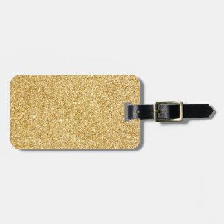 Elegant Faux Gold Glitter Luggage Tag