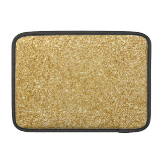 Elegant Faux Gold Glitter MacBook Sleeves