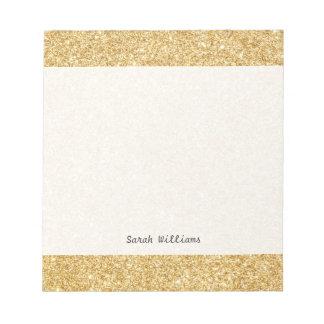 Elegant Faux Gold Glitter Notepads