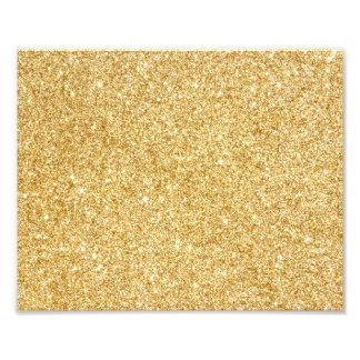 Elegant Faux Gold Glitter Photo