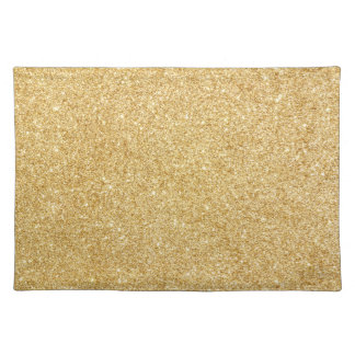 Elegant Faux Gold Glitter Placemat