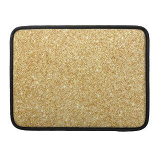 Elegant Faux Gold Glitter Sleeve For MacBook Pro