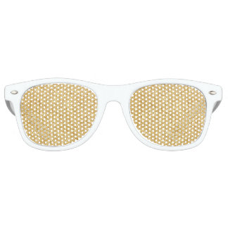 Elegant Faux Gold Glitter Sunglasses