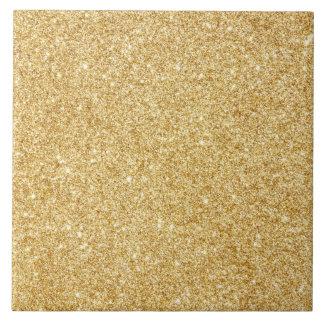 Elegant Faux Gold Glitter Tile