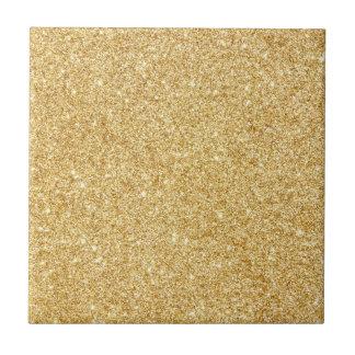 Elegant Faux Gold Glitter Tiles