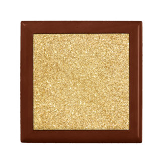 Elegant Faux Gold Glitter Trinket Box