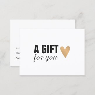 Elegant Faux Gold Heart Beauty Gift Certificate